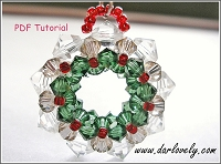 Big Christmas Wreath Charm Tutorial