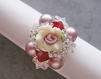 Pearl Clayflower Square Ring Tutorial