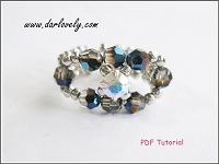 Metallic Blue Monte Ring Tutorial - Free