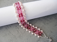 Ruby Rose Pearl Bracelet Tutorial