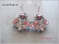 Pink Navette Pearl Fan Earrings Tutorial