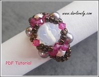 Moonstone Pink Purple Dainty Ring Tutorial