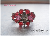 Red Rose Copper Navette Ring Tutorial