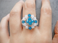 Blue Opal Square Ring Tutorial