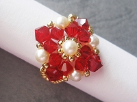 Red Creamrose Diamond Ring Tutorial