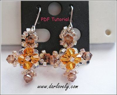 Topaz Cross Earrings Tutorial - Free
