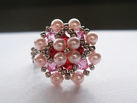 Pink Pearl Metal Flower Ring Tutorial