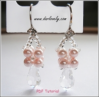 Pearl Teardrop Earrings Tutorial