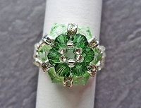 Green Round Flower Ring Tutorial