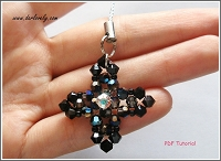 Black Cross Charm/ Pendant Tutorial