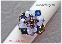 Big Purple Blue Ring Tutorial