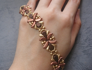 Bronze Flower Duos Bracelet Tutorial