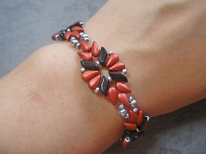 Flame Flower Bracelet Tutorial