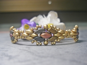Golden Duos Flower Bracelet Tutorial