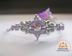 Silvery Purple Bangle Bracelet Tutorial