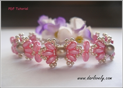 Pink Shell Pearl Superduo Bracelet Tutorial