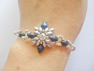 Snow Flower Bracelet Tutorial