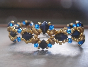 Golden Blue DiamonDuo Bracelet Tutorial
