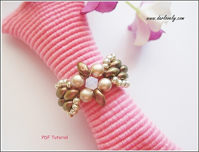 Cute Bow Superduo Ring