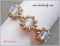 Golden Shimmering Superduo Bracelet Tutorial