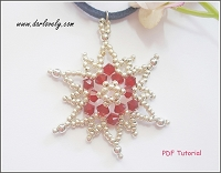 Red Sparkle Snowflake Charm/ Pendant Tutorial
