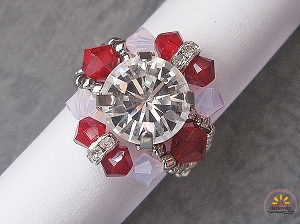 Red Rose Chaton Ring Tutorial