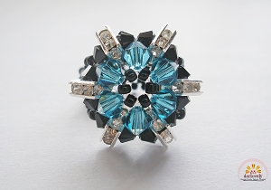 Black Indicolite Flower Ring Tutorial