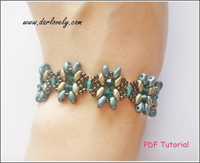 Golden Green Superduo Bracelet Tutorial