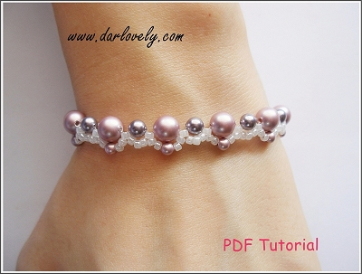 Pink Purple Bracelet Tutorial