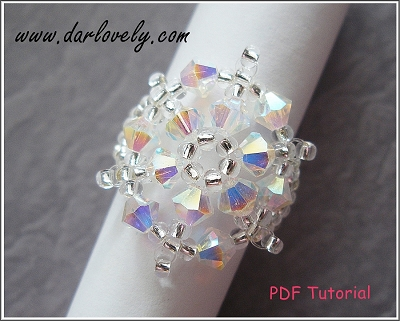 Crystal Snow Flake Ring Tutorial