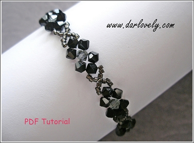 Elegant Black Flower Bracelet Tutorial