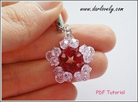 Red Flower Star Charm Tutorial