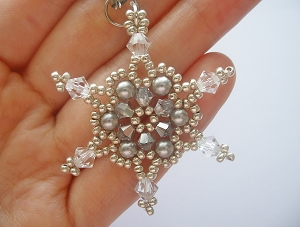 Shimmering Snow Flake Charm Tutorial