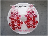 Red Crystal Triple Flower Earrings Tutorial