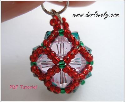Christmas Button Charm/ Pendant Tutorial - Free