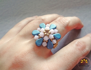 Rose Blue Amos Ring Tutorial