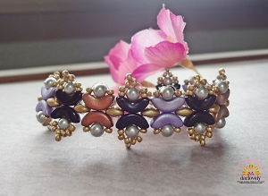 Colour Acros Pearl Bracelet Tutorial