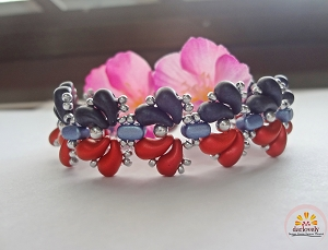 Red Blue Zoli Splash Bracelet Tutorial