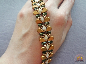 Golden Green Butterfly Bracelet Tutorial