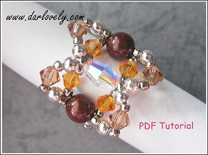 Copper Pearl Topaz Ring Tutorial - Free