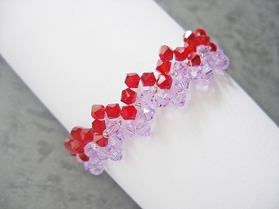 Red Purple Zig Zag Bracelet Tutorial