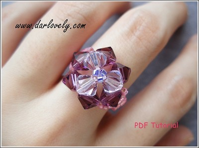 Triangular Pink Purple Ring Tutorial - Free