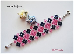 Rose Blue Cuff Bracelet Tutorial