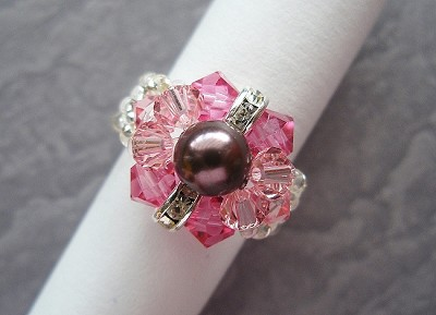 Round Pearl Pink Ring Tutorial