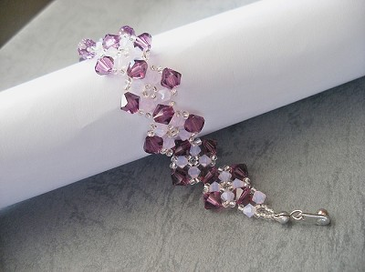 Amethyst Rose Square Bracelet Tutorial