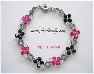 Black Fuchsia Flower Bracelet Tutorial