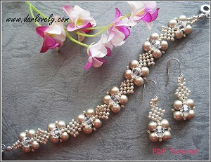 Platinum Pearl Netted Bracelet Earrings Set Tutorial