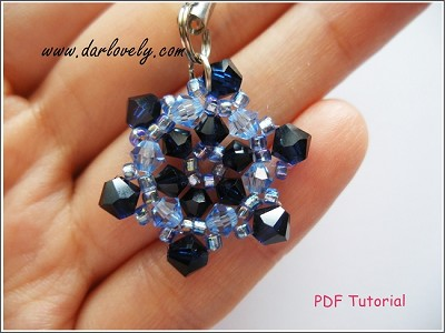 Blue Snow Flake Charm Tutorial