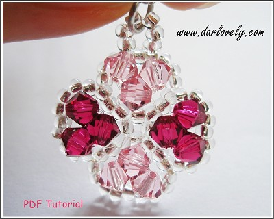 Pink 4 Leaf Clover Charm Tutorial - Free