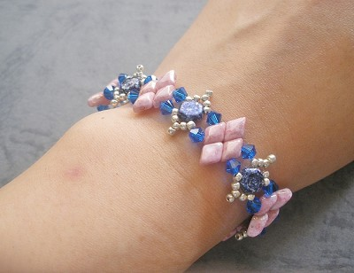 Blue Pink Sparkle Bracelet Tutorial